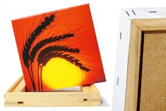 Fotoleinwand aufgespannt auf Holzkeilrahmen