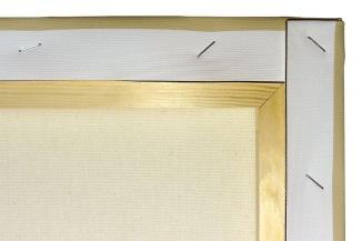 Die Rückseite des Leinwandbildes, natürlich inkl. Keile (ohne Abb.)