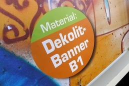 Nur-Druck auf Dekolitbanner B1 (textilartige Oberfläche) für Displays