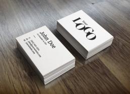Visitenkarten ab 250 Stück, 300 g/qm Bilderdruckkarton